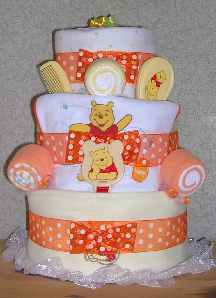 Gifts By Jayde Elite Winnie The Pooh Theme Diaper Cake