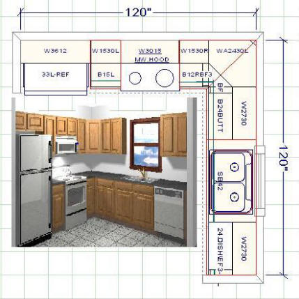 10 X 3d Sample Kitchen Layout Pictures To Pin On Pinterest