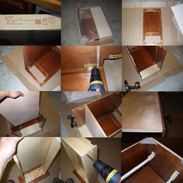 GRANGER54 : Southern Oak All Wood Kitchen Cabinets RTA