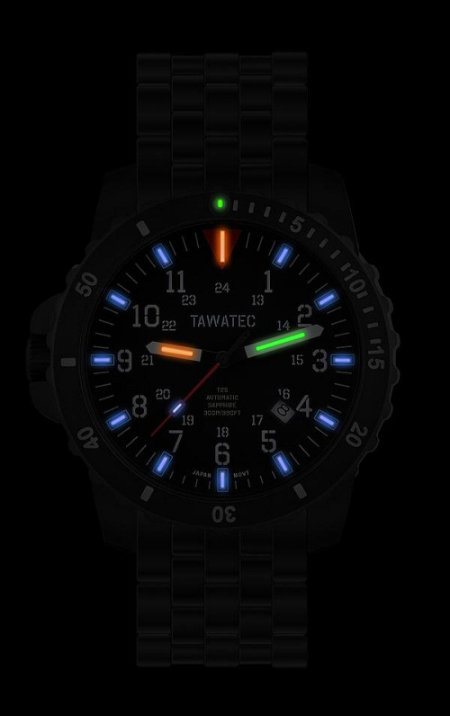 TaWaTec Automatic - ICS - Black Titan Diver Titanium Bracelet