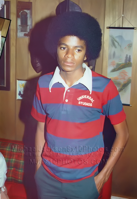 MICHAEL JACKSON  1973 at 14 years OLD (2) RARE 8x10 PHOTOS
