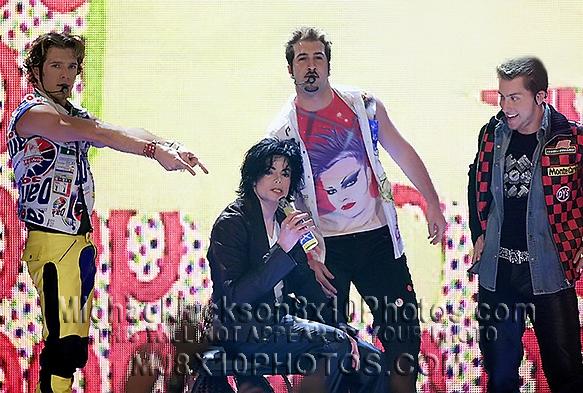 MICHAEL JACKSON  2002 on NSYNC Stage (3) RARE 8x10 PHOTOS