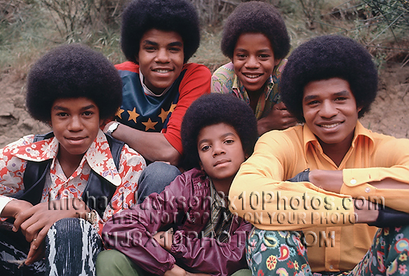 MICHAEL JACKSON  EARLY70s withBROTHERS (3) RARE 8x10 PHOTOS