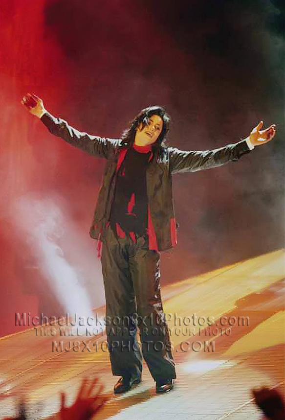 MICHAEL JACKSON  THE EARTH SONG STAGE1 (3) RARE 8x10 PHOTOS