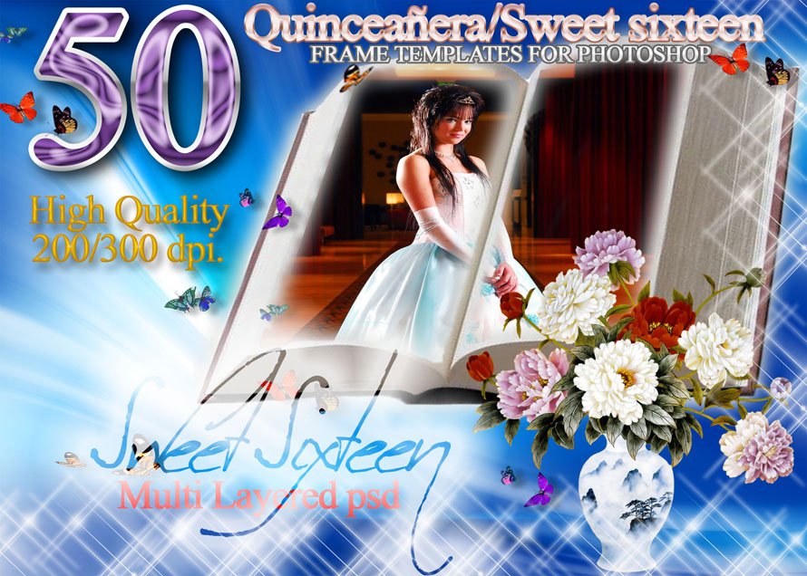 AB Universal Digital Backgrounds : SWEET 16 SIXTEEN QUINCEANERA ...