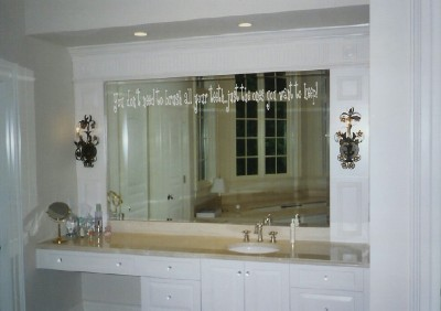 Xpresivdesigns Vinyl Wall Lettering Bathroom Mirror Etched Glass Decal