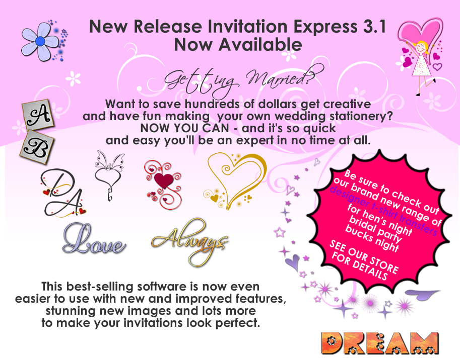 Shirty designz diy wedding invitation software quick for Diy wedding invitations vs professional