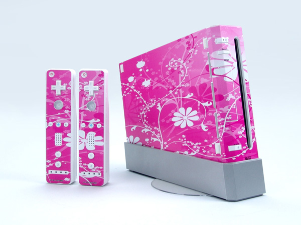 Pink wii console