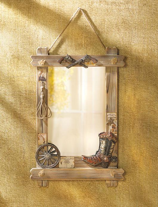 Western decor mirror