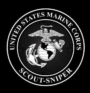 Men of Wars : USMC MARINES SCOUT-SNIPER T SHIRT BLACK ** M-XXXL **