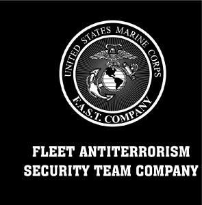 Men Of Wars Usmc Marines F A S T Company T Shirt Black