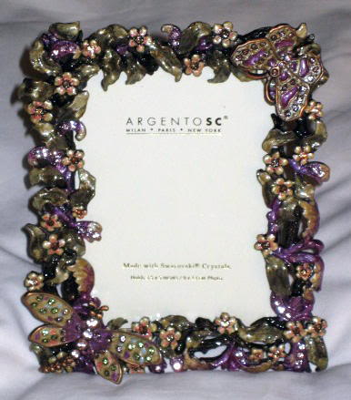 Catoys Argento Sc Swarovski Crystal Picture Frame 3x5 Quot D New