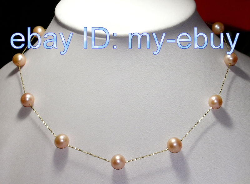 Wendyin 14kt White Gold Chain Tin Cup Black Pearl