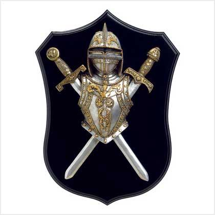 The Fog Shoppe New Medieval Sword Shield Helmet Knight