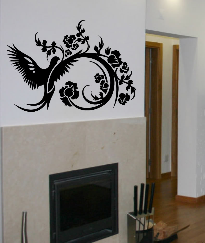 decals by digiflare wall decal big topiary tree deco art home design living room bedroom wall stickers