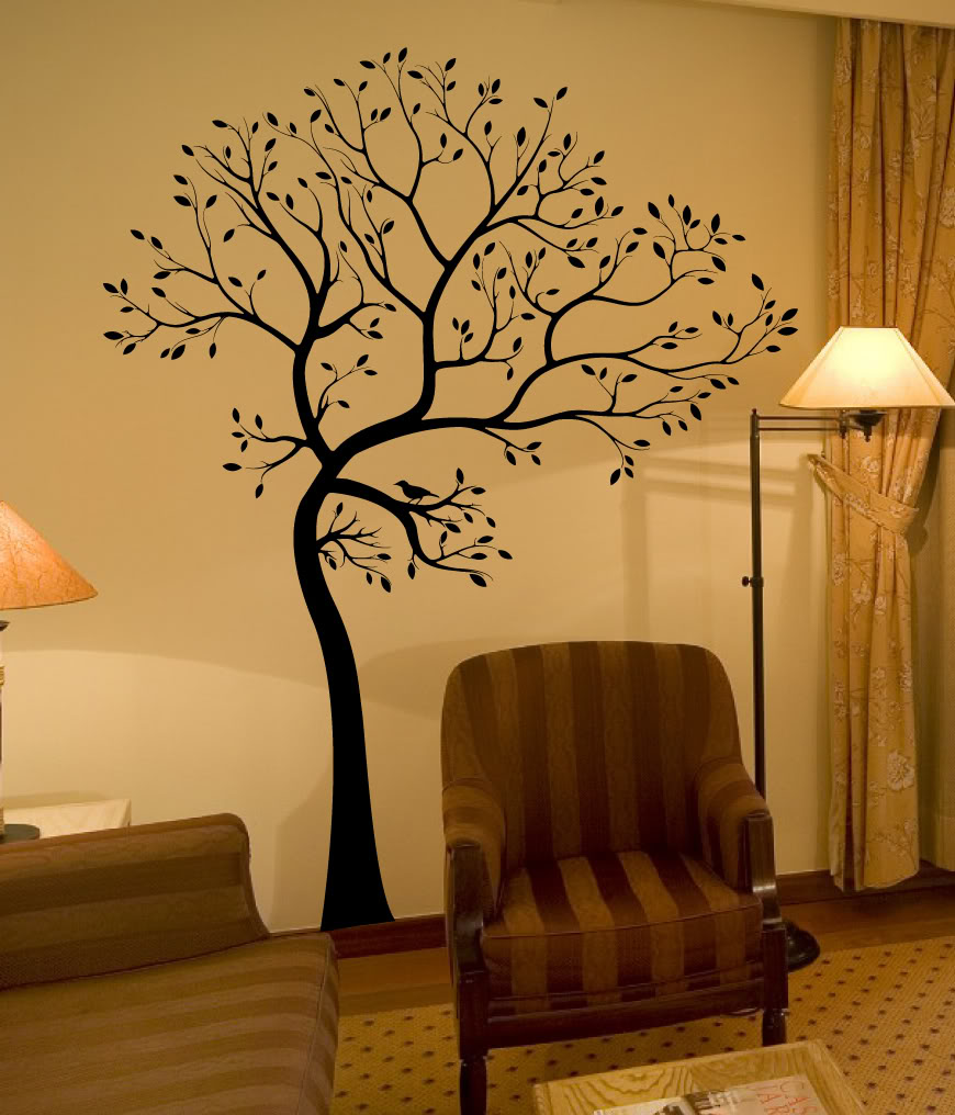 decals by digiflare Wall Decal Tree Branch Birds Leaves