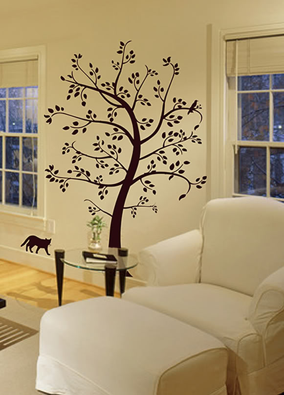 Wall Decal BIG TOPIARY TREE Deco Art Sticker Mural , decals by digiflare