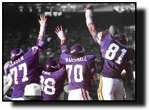 Purple People-Eaters block a kick.