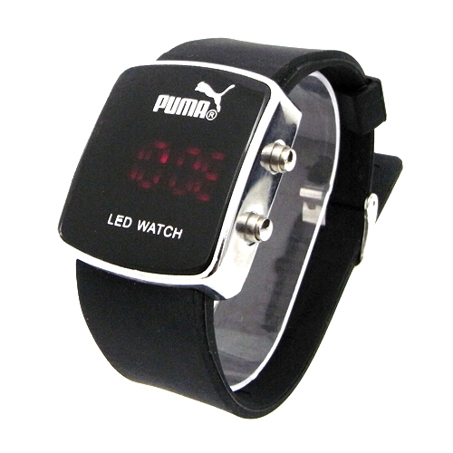 blackruby puma sports digital led mens black watch