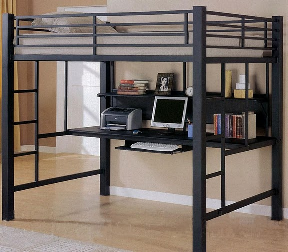 /FurnitureMail : layton full size loft bed with computer workstation