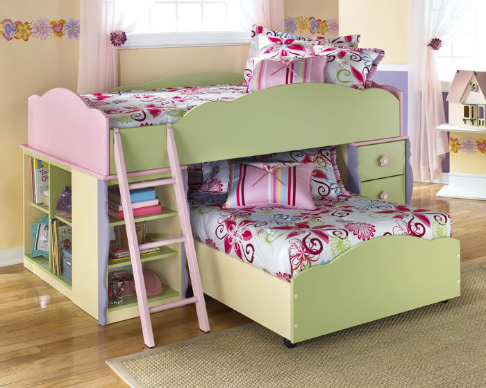 Doll house pink for Dollhouse bedroom ideas