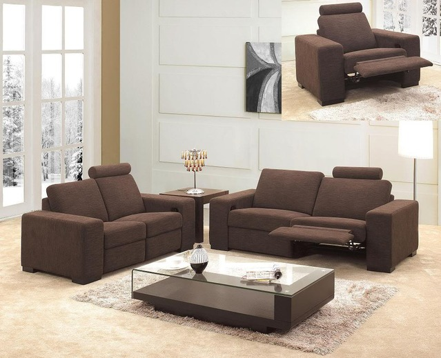 Accessorizeyourspace Modern Mb 0918 Chocolate Reclining
