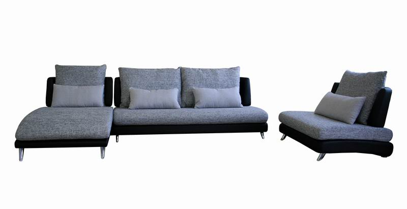 Accessorizeyourspace 3 piece leather fabric sectional for 3 piece black modern sectional sofa
