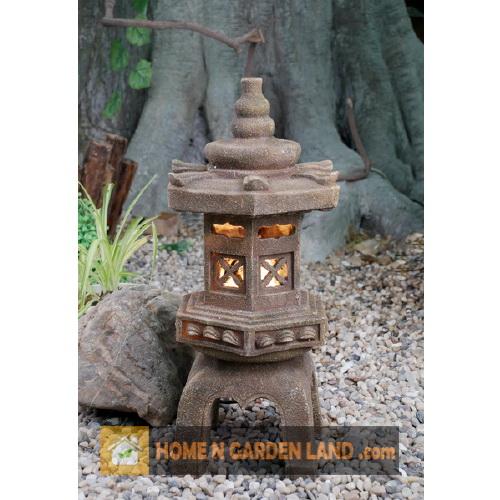 Homengardenland 20 water fountain japanese pagoda with for Japanese garden water fountain