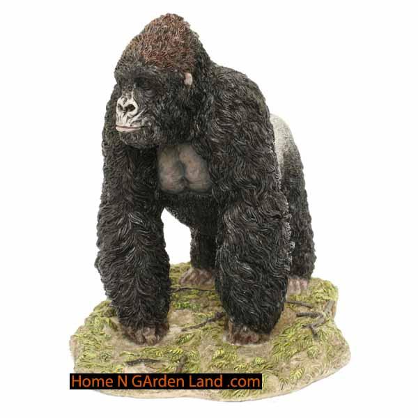 Homengardenland gorilla figurine statue 10 10 in decor - Gorilla figurines ...