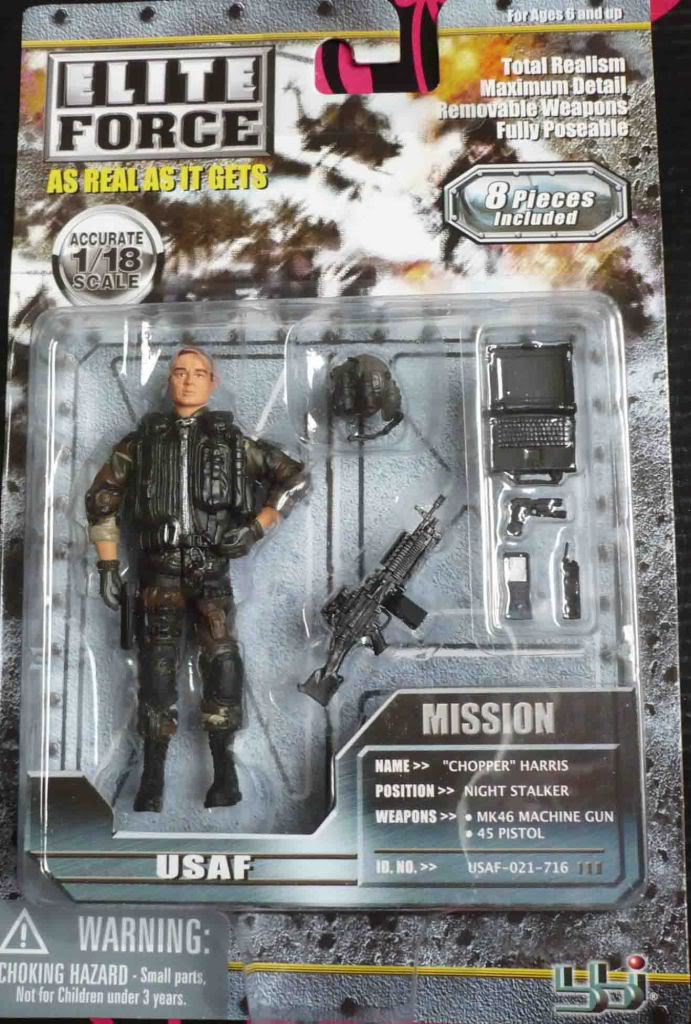 Elite Force 1 18 Toy : Topop bbi elite force usaf helicopter crew