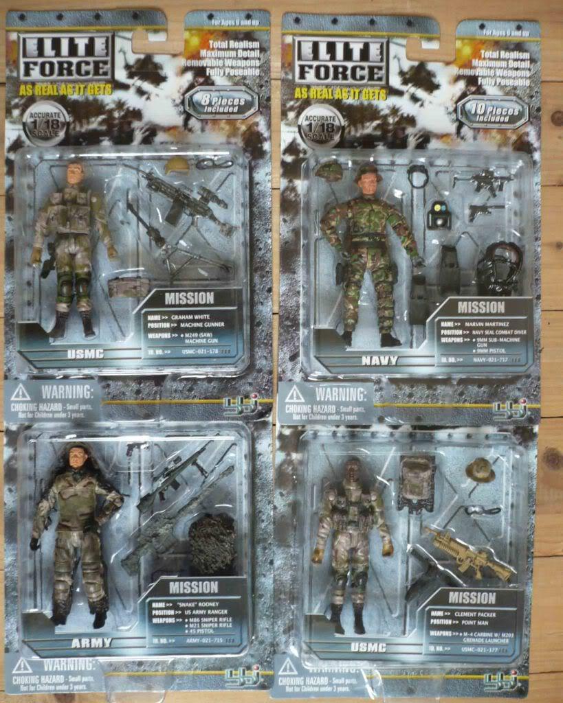 Elite Force 1 18 Toy : Topop lot pc bbi elite force usmc usn us