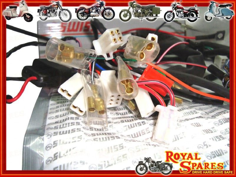 royal enfield 350 500cc complete wiring harness 144586 cheapest rh vendio com