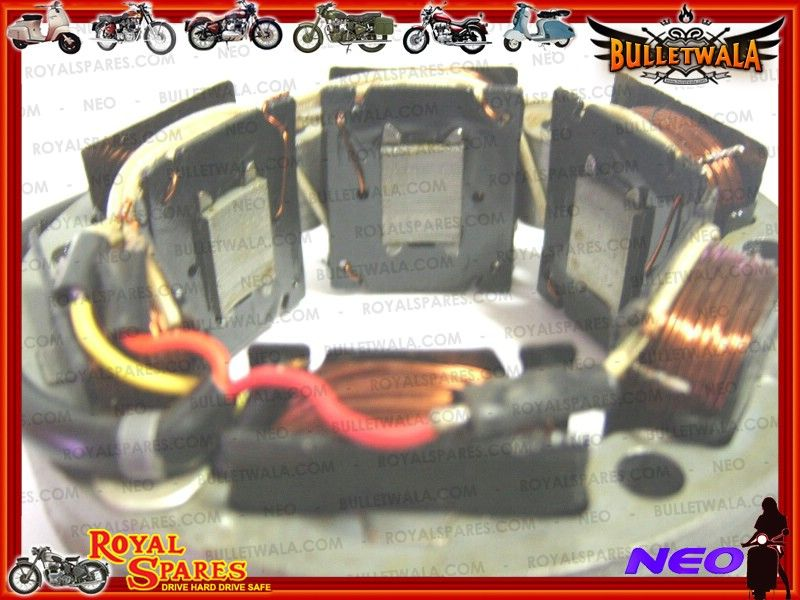 royal enfield 12v ac dc 4 wire stator assly 143633 new cheapest
