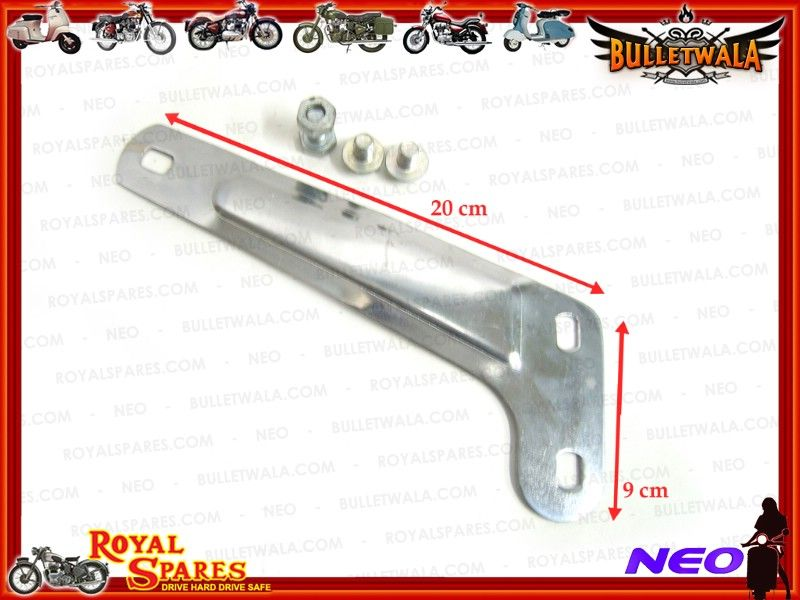ROYAL ENFIELD BULLET SILENCER BRACKET-NUTS FREE #112165, Cheapest