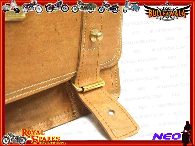 Royal Enfield Pair Of Camel Coloured Leather Saddlebags