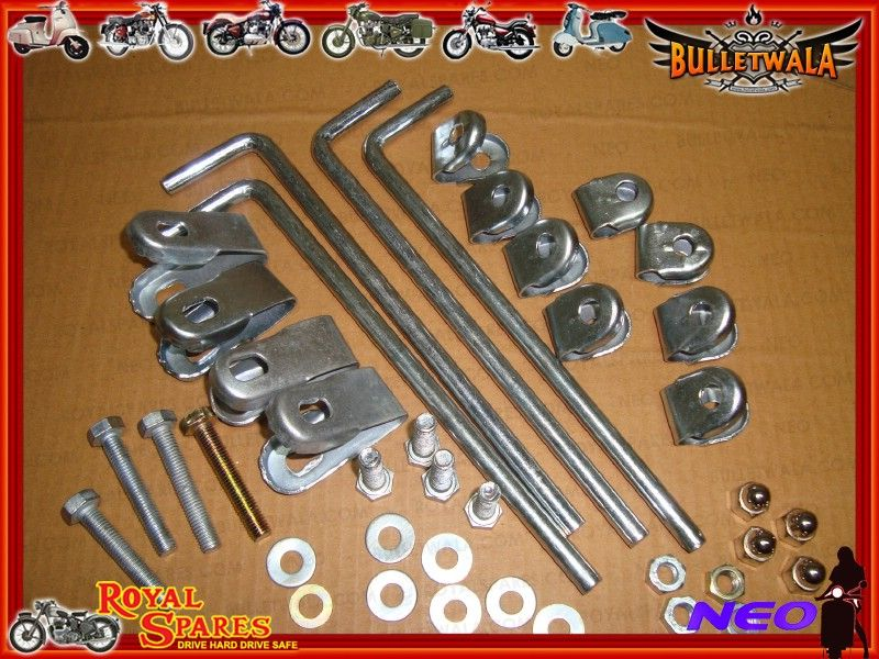 Royal Enfield Small Windshield With Complete Fixing Kit