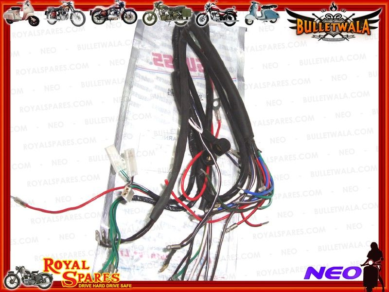 6v COMPLETE MAIN WIRING HARNESS EARLY ROYAL ENFIELD, Cheapest Prices on dog harness, battery harness, fall protection harness, obd0 to obd1 conversion harness, cable harness, suspension harness, maxi-seal harness, nakamichi harness, safety harness, radio harness, engine harness, amp bypass harness, pony harness, pet harness, oxygen sensor extension harness, alpine stereo harness, electrical harness,