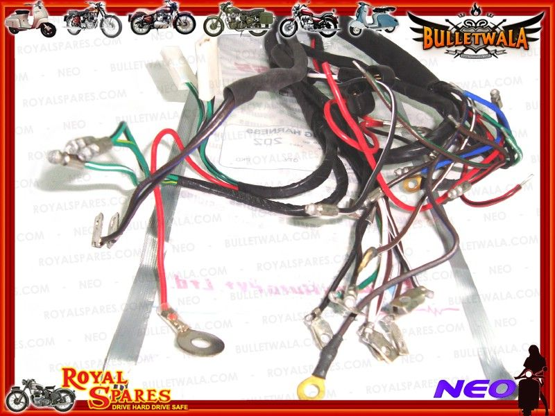 6v complete main wiring harness early royal enfield cheapest prices rh vendio com Ford Wiring Harness Kits Wiring Harness Diagram