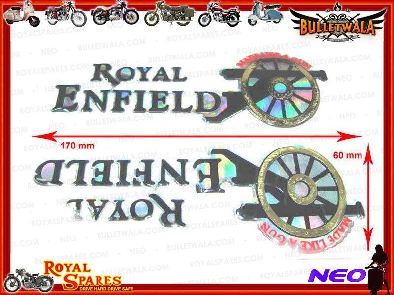Petrol Tank Sticker Set Cannon Amp Royal Enfield Logo