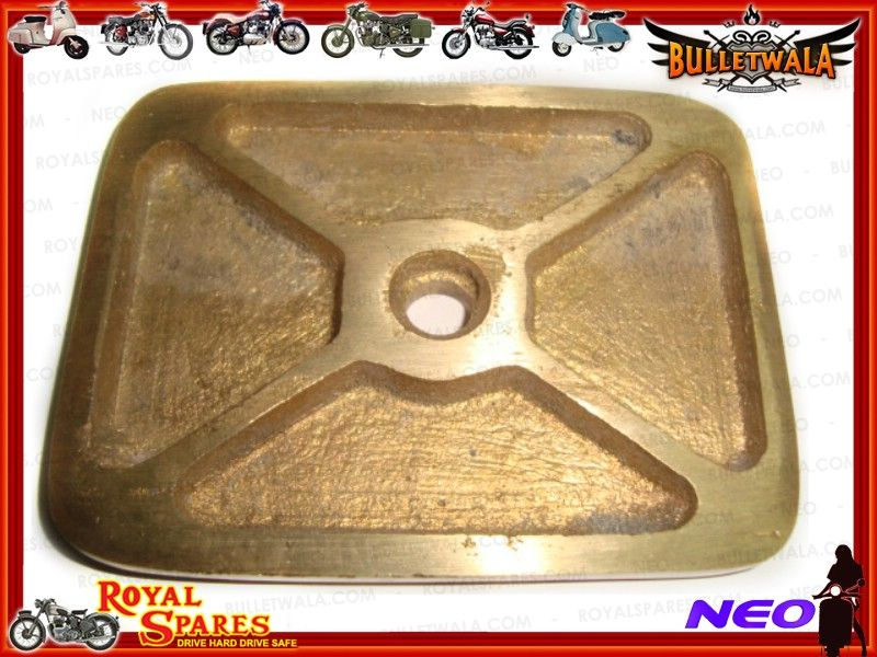 Customized Brass Tappet Cover With Royal Enfield Logo