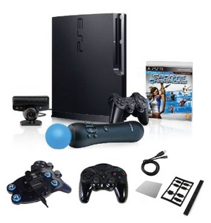 "Sony Playstation 3 320GB Move ""Mega Bundle""- Controller, Charger, and More (PS3-320GB-MOVE-MEGA-BUNDLE)"