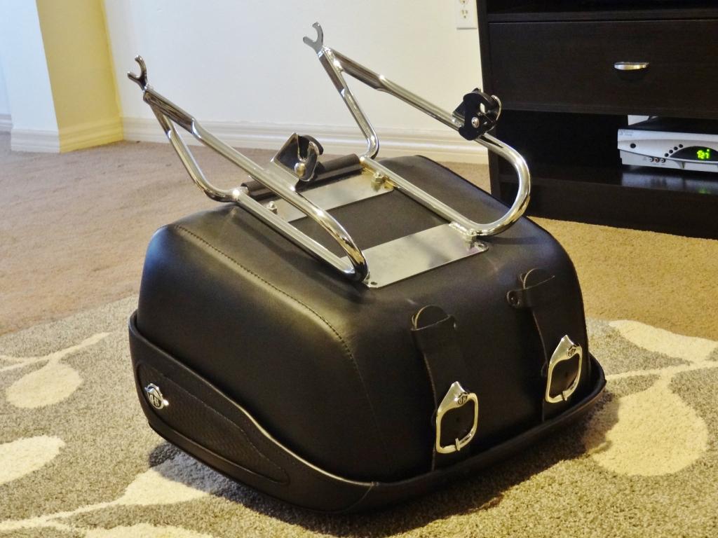 wholesaleingfla : real hd harley tour-pak pack luggage leather