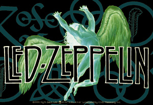 Concert T Shirts Led Zeppelin Vinyl Sticker Swan Song