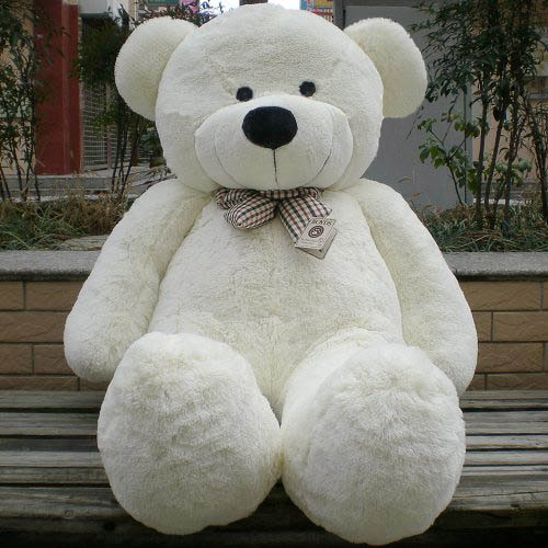 tomyqj giant huge lovely teddy bear toy brown white au stock. Black Bedroom Furniture Sets. Home Design Ideas