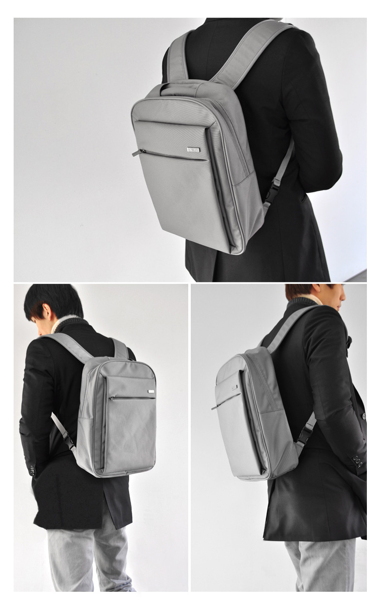 Laptop bags korea - Araon Korea Laptop Backpack Small Simply Document And Laptop Backpakc Ara 201 Gray Genuine And New Modern Backpack Made In S Korea