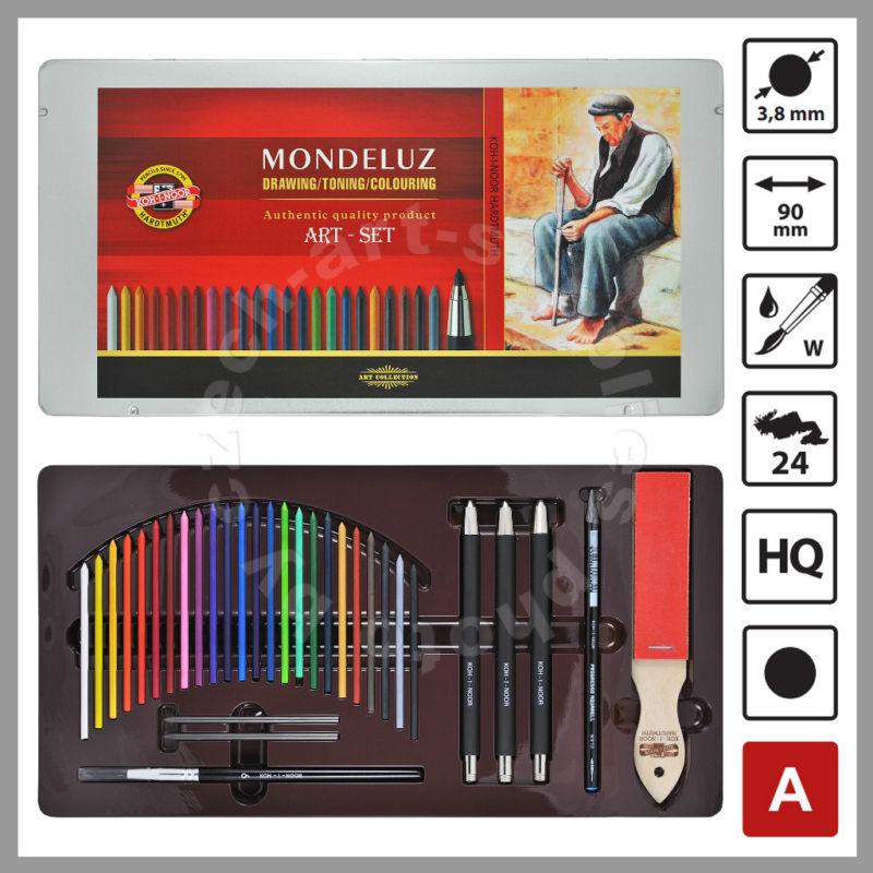 made in czech republic koh i noor mondeluz watercolor pencil set 3796