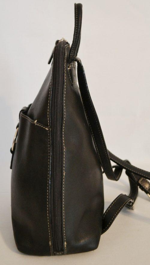 Wilsons Leather Pelle Studio Black Backpack Handbag Purse