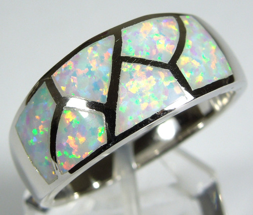 Natural Stone Opal Ring Handmade Natural Peruvian Blue Opal Sterling Silver Ring Size 9.5 Opal Ring Size 9 10 Blue Opal Ring size 9 10
