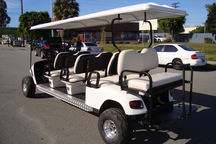 2006 Custom Limo 8 Passenger Seat Ez Go Electric Golf Cart