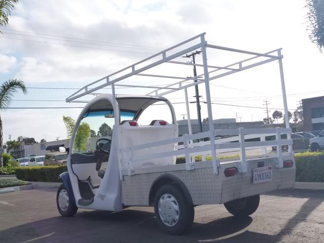 CHRYSLER GEM e825 UTILITY Long Bed Golf Cart Flatbed Electric Ladder on industrial dump carts, ezgo gas cargo carts, taylor dunn carts, ezgo hunting carts, gas powered carts, ez go flatbed carts, flatbed cushman cart,